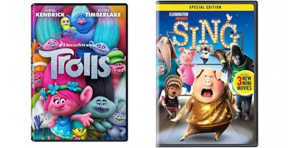 Trolls and Sing DVDs $10 (Reg. $29.98) @ Amazon