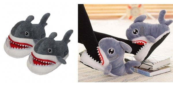 Adult Plush Shark Slippers Only $28 @ Amazon
