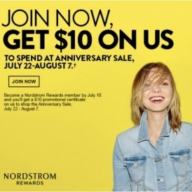 Free $10 to Spend @ Nordstrom