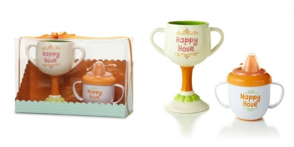 Happy Hour And Nappy Hour Mom And Baby Cup Set $6 @ Hollar