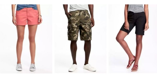 Today Only Shorts For The Family From $8 (w/ Code) @ Old Navy