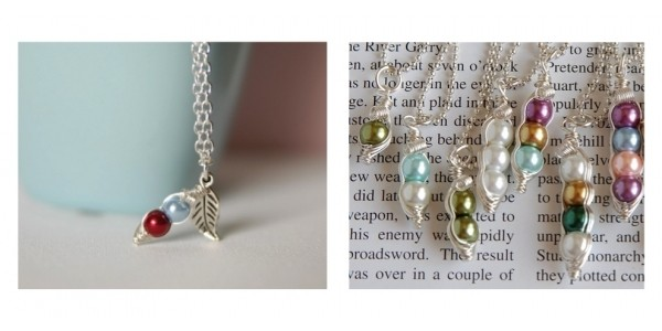 Custom Mama's Sweet Peas Necklace $9 @ Jane