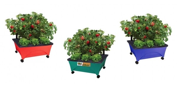 Self-Watering Patio Raised Garden Bed Grow Box Kit $20 @ Home Depot