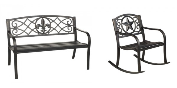 Mosaic Steel Outdoor Bench And Rockers $40 Shipped @ Academy