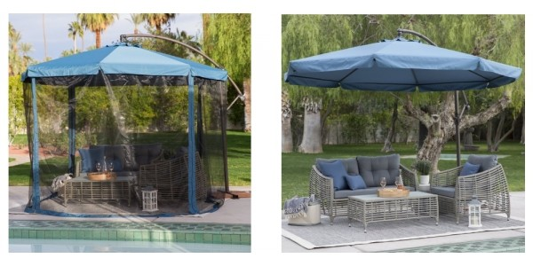 Outdoor Umbrella, Stand And Insect Net $135 @ Hayneedle