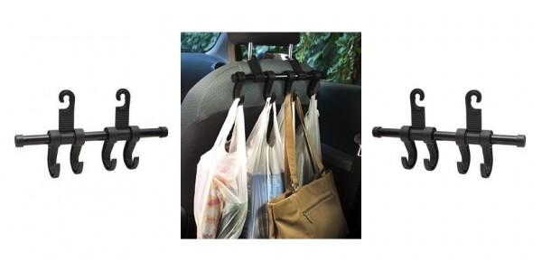 Backseat Car Headrest Multi-Hangers $10 @ Amazon