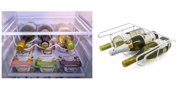 3 Bottle Refrigerator Wine Rack Organizer $11 @ eBay