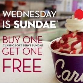 Free Ice Cream Sundae Today @ Carvel