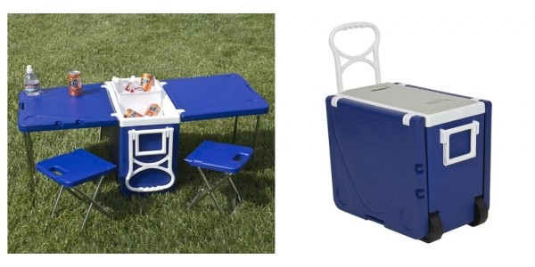 Folding Cooler Picnic Table With Chairs $70 @ Jet