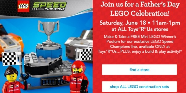 Father's Day LEGO Celebration + FREE Gift @ Toys R Us