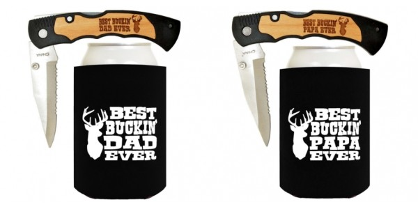 Best Buckin' Dad Ever Pocket Knife And Koozie $22 @ Amazon