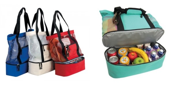 Tote Bag With Insulated Picnic Cooler $15 @ Overstock