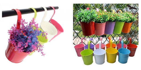 10 Pack Fence Or Railing Hanging Flower Planters $13.99 (w/ Code) @ Amazon