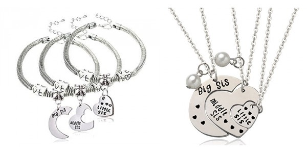 Big Sis, Middle Sis, Little Sis Jewelry Sets From $6.99 @ Amazon