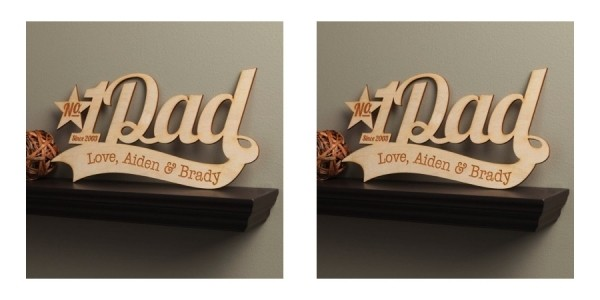 Number One Dad Personalized Wooden Plaque $20 @ Walmart