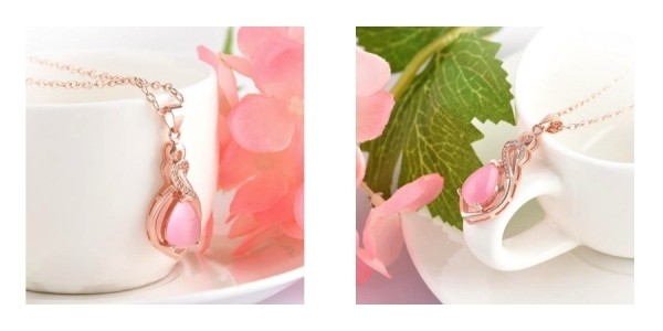 Romantic Pink Resin Necklace FREE + Free Shipping w/ Code @ Solocost