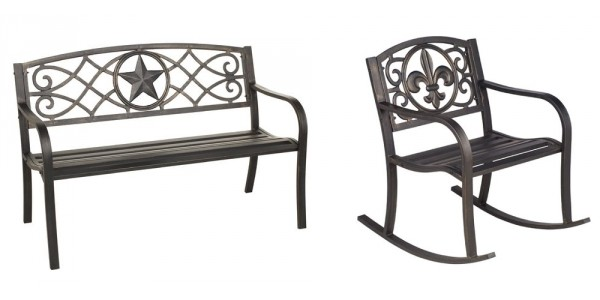 Mosaic Steel Outdoor Bench And Rockers $40 @ Academy