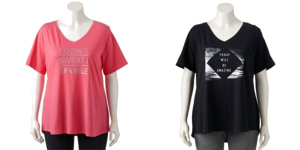 Plus Size Workout T-Shirts From $6.49 @ Kohl's