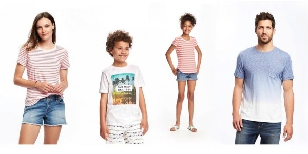 $4 Tees for the Family (reg. $17) Today Only @ Old Navy