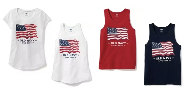$4 Tees & Tanks For The Whole Family (Plus 40% Off w/ Code) @ Old Navy