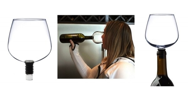 Guzzle Buddy: Turns Your Wine Bottle Into Glass - Just Plug It & Chug It! $22 @ Amazon