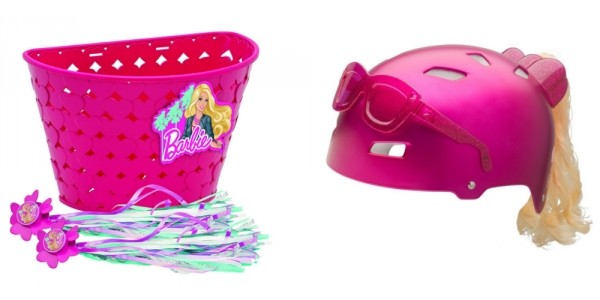 Bell Barbie Bike Helmet, Basket, & Handlebar Streamers $16 Shipped @ Deal Genius