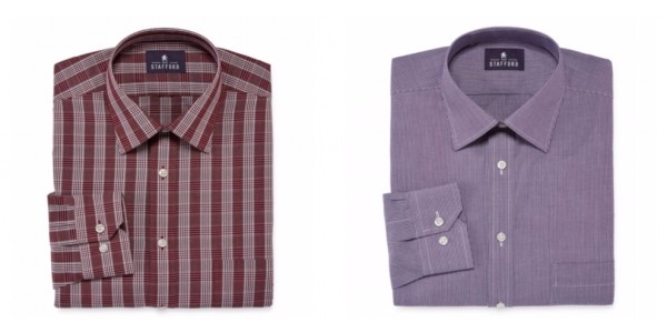 Today Only Men's Stafford Travel Dress Shirts $5 Shipped (w/ Code) @ JC Penney
