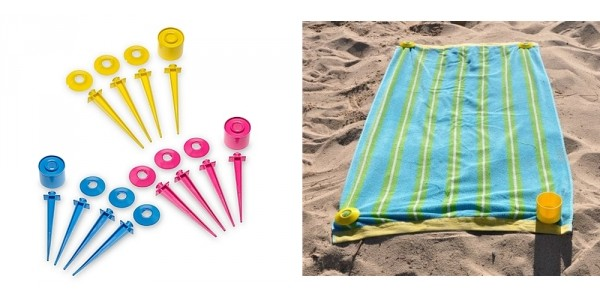 Beach Towel Secure Hold Beach Tacs With Cup Holder $15 @ Walmart