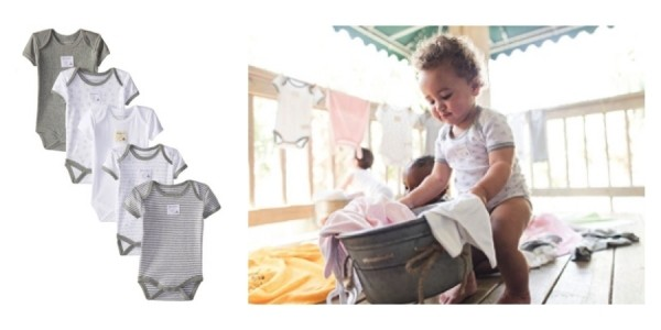 5-Pack Burt's Bees Baby Organic Cotton Bodysuits Just $12 @ Amazon