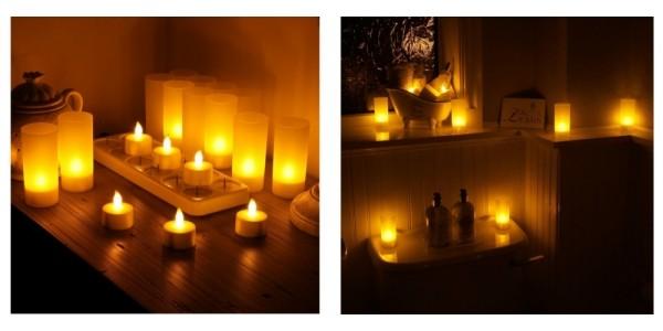12 Piece Rechargeable Tea Light Candles $31 Shipped (Reg. $62) @ Walmart