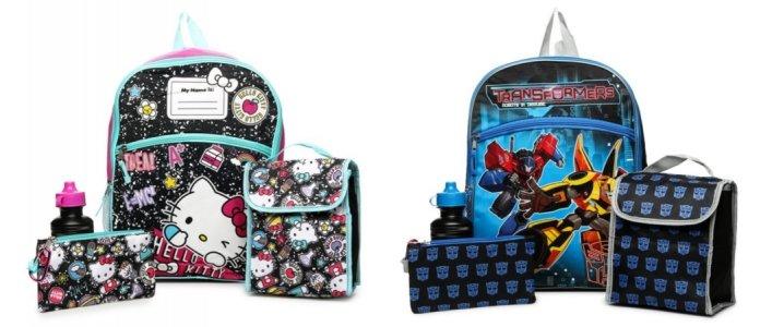 5 Piece Backpack Sets $6 @ Hollar