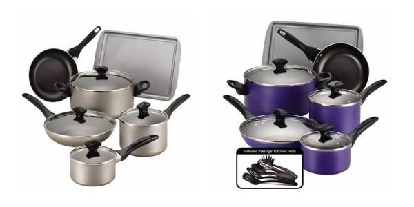 Farberware 15-Piece Non-Stick Aluminum Cookware Set $25 Shipped @ Kohl's