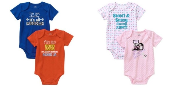 2 Pack Funny Baby Attitude Body Suits $4 And Under @ Walmart
