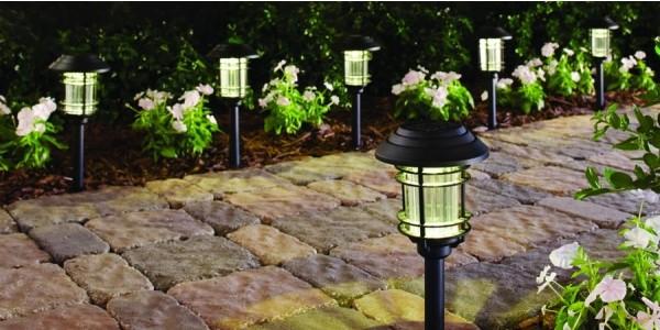 6 Pack LED Solar Pathway Lights $13 @ Home Depot
