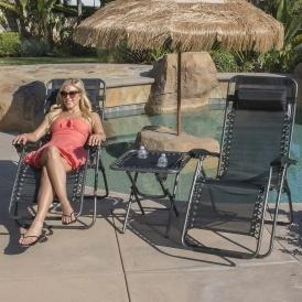 2 Zero Gravity Lounge Patio Chairs $50
