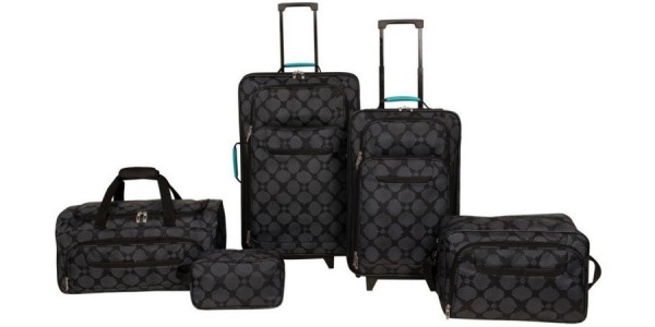5 Piece Complete Travel Luggage Set $40 + Free Shipping @ Deal Genius
