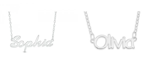 Silver Personalized Name Necklace $16 w/ Code (Reg. $79) @ Zales