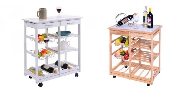 Kitchen Trolley Cart With Wine Holder $45 Shipped (Reg. $90) @ Rakuten