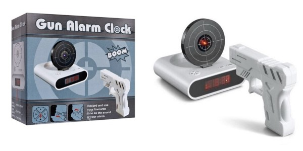 Gun Alarm Clock $20 (Regularly $39.99) @ Amazon