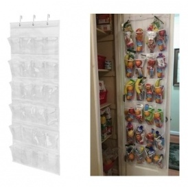 Honey Can Do 24 Pocket Over The Door Shoe Organizer (Great For Back To  School Lunches U0026 Snacks) $8 @ Walmart