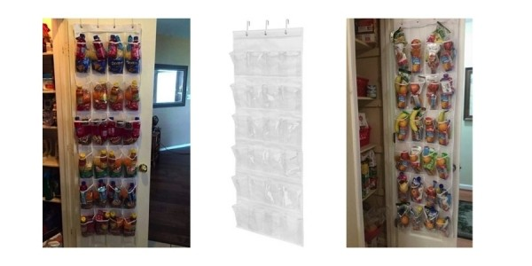 Honey Can Do 24-Pocket Over-The-Door Shoe Organizer (Great for Back to School Lunches & Snacks) $8 @ Walmart