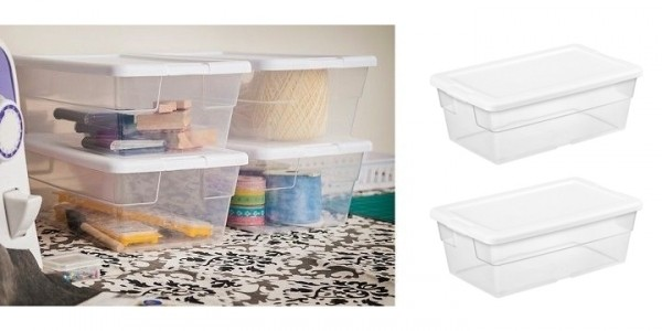 Sterilite 6 Quart Clear Storage Container with Lid Just 84¢ @ Target