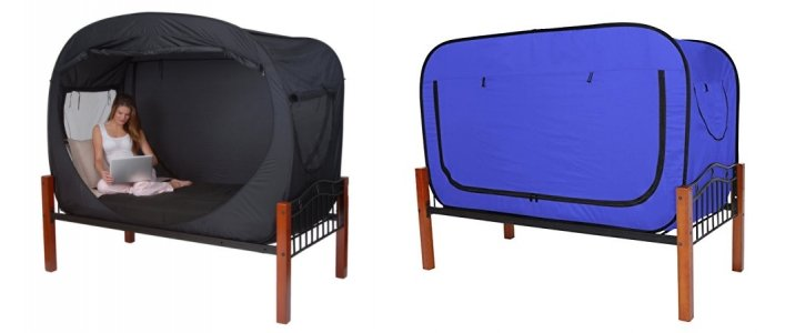privacy pop bed tent awesome for dorms & room sharers $130 @ amazon