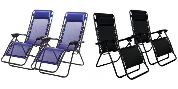 Set of 2 Zero Gravity Lounge Chairs (in 4 Color Choices) $46 Shipped @ eBay