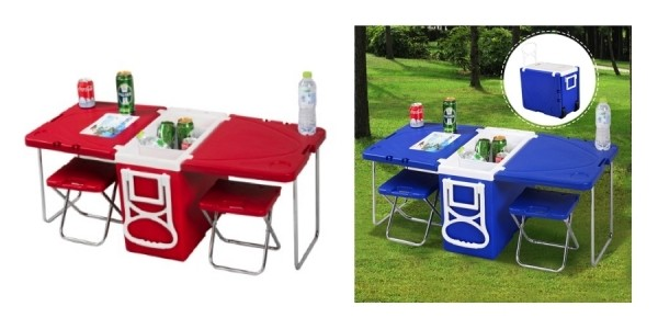 Costway Multi-Function Rolling Cooler with Built-In Picnic Table & 2 Chairs $50 Shipped @ Jet