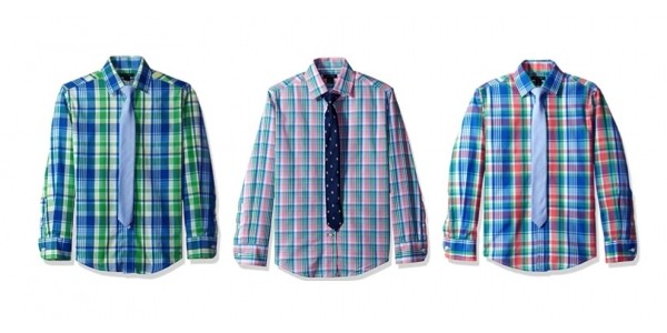 Boys Tommy Hilfiger Long Sleeved Button Down Shirts w/ Ties Just $8.56 @ Amazon