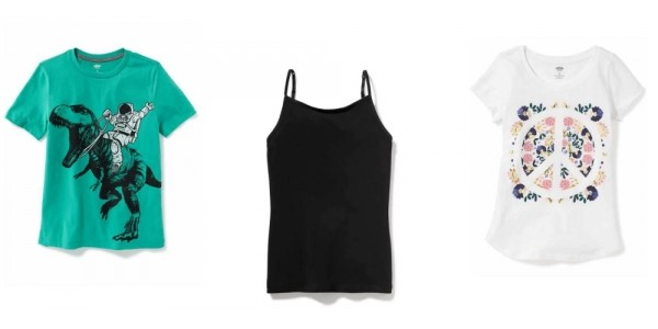 Today Only! Kids Tanks $1.80, T-Shirts $3.60, Leggings $4.50 + More @ Old Navy