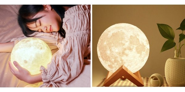 3D Rechargeable Moon Night Light From $15 + Free Shipping @ eBay