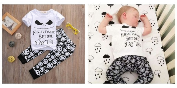 Infant's Nightmare Before Nap Time Pajamas $14 @ Etsy