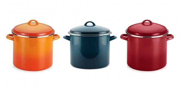 Rachel Ray Hard Enamel on Steel 12-Quart Covered Stockpot $27 @ Macy's